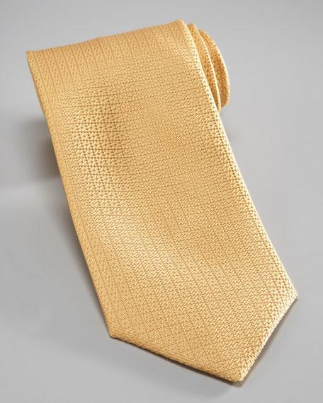 Textured Silk Tie, Gold