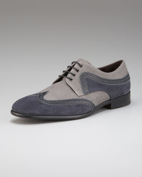 Bourges Two-Tone Wing-Tip