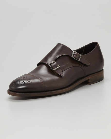 Medallion-Toe Monk-Strap Loafer