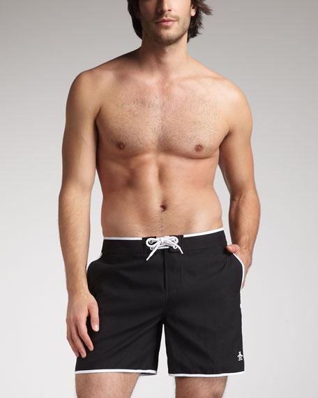 Volley Swim Trunks, True Black
