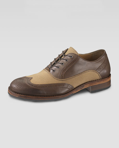 Bromley Brogue Oxford, Dark Brown