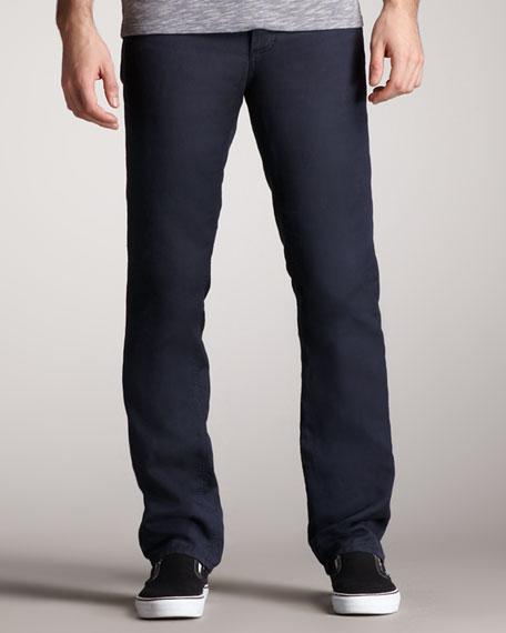 Cotton-Blend Pants, Night Fall