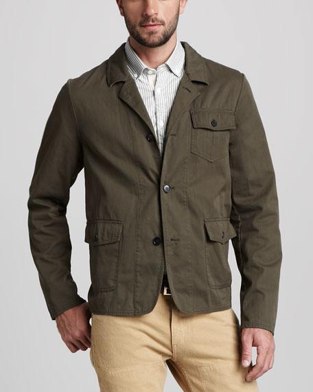 Madison Three-Button Military Jacket