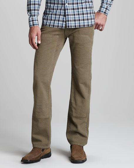 Panel Pants, Military Green