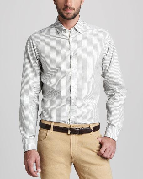 Striped Button-Down Oxford Shirt