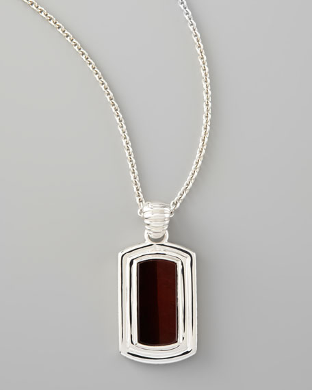 Bull's Eye Dog Tag Necklace