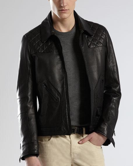 Quilt-Detail Jacket