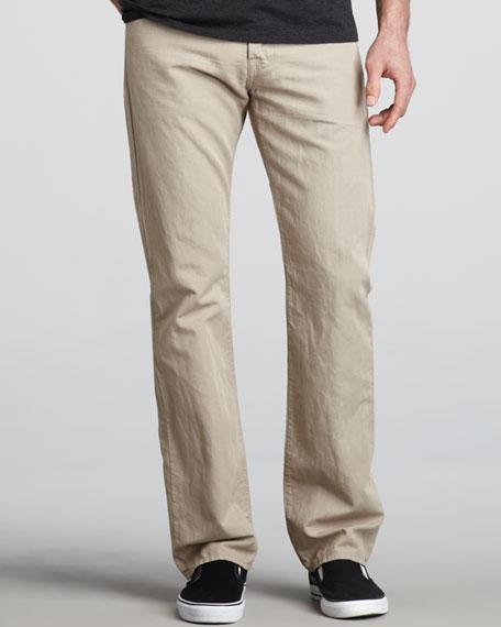 Standard Cotton-Linen Pants, Khaki