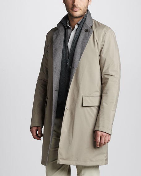Reversible Cashmere Coat