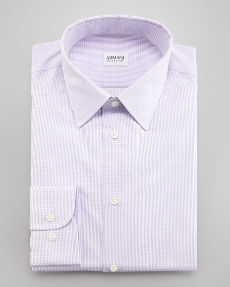 Mini-Grid Dress Shirt, Modern Fit