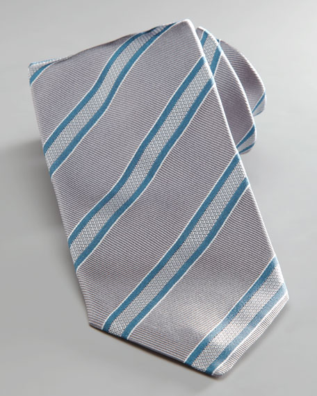 Mixed Stripe Tie, Teal