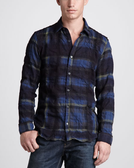 Spray-Check Flannel Shirt