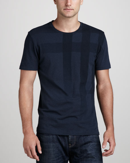 Check-Graphic Tee, Blue Carbon