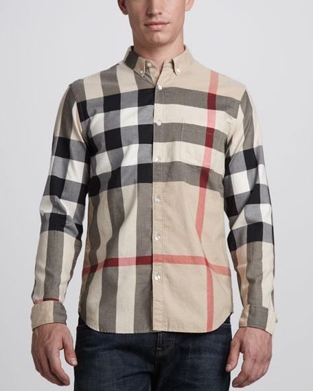 Check Button-Down Shirt, Classic