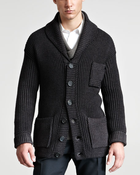 Chunky Wool/Silk Cardigan