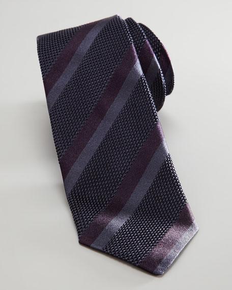 Textured Skinny Tie, Dark Gray