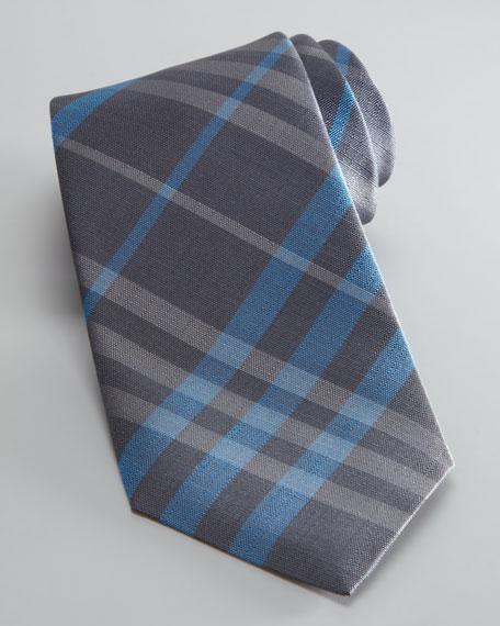 Check Tie, Dark Gray/Blue