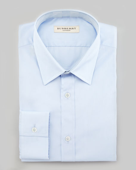 Classic-Fit Dress Shirt, City Blue