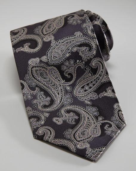 Paisley Tie, Black/Gray