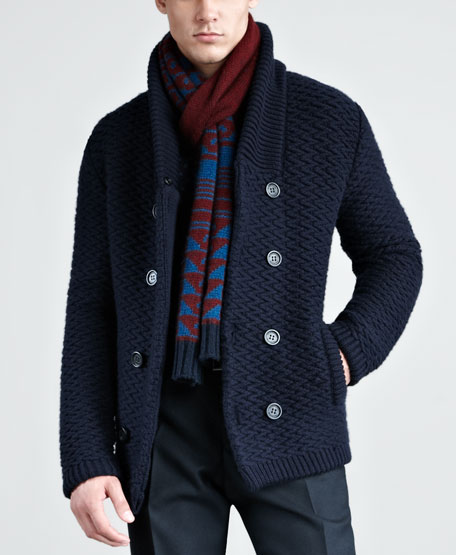Patterned Cashmere Scarf