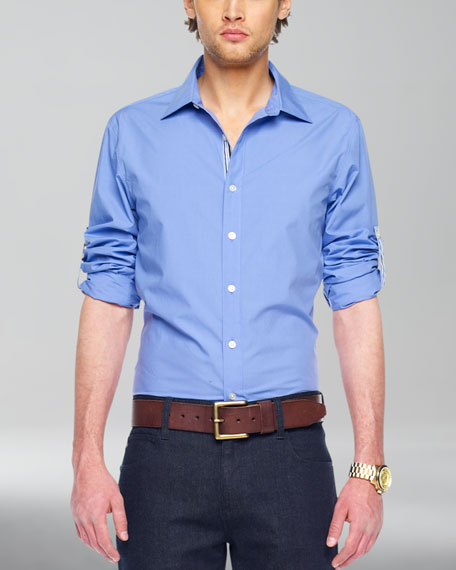 Ribbon-Trim Shirt, Pacific
