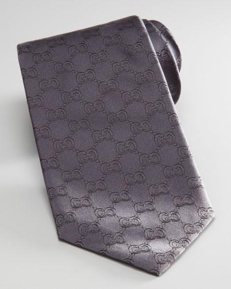 GG Logo Tie, Black