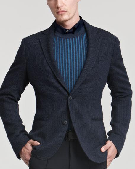 Chevron Jersey Jacket