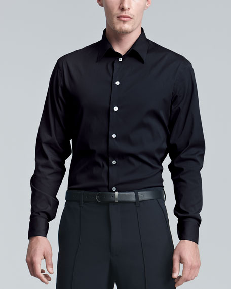 Stretch-Cotton Dress Shirt