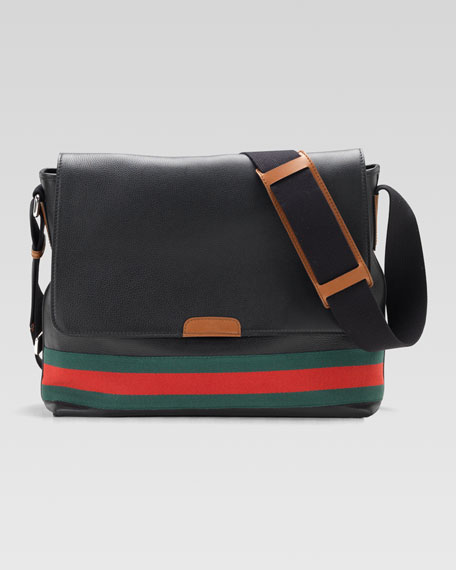Signature Web Messenger Bag