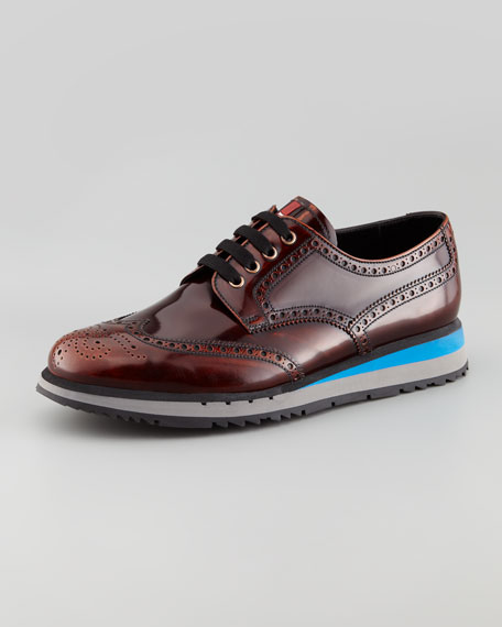 Spazzolato Wing-Tip Oxford with Micro Sole