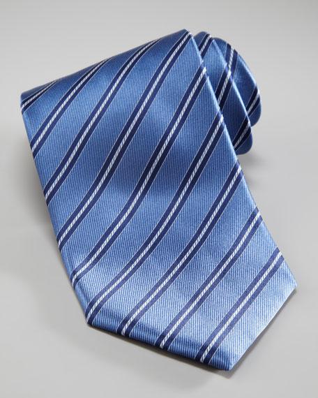 Tonal Stripe Tie, Blue