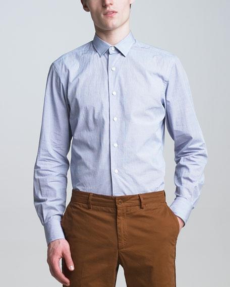 Grosgrain-Detail Check Shirt