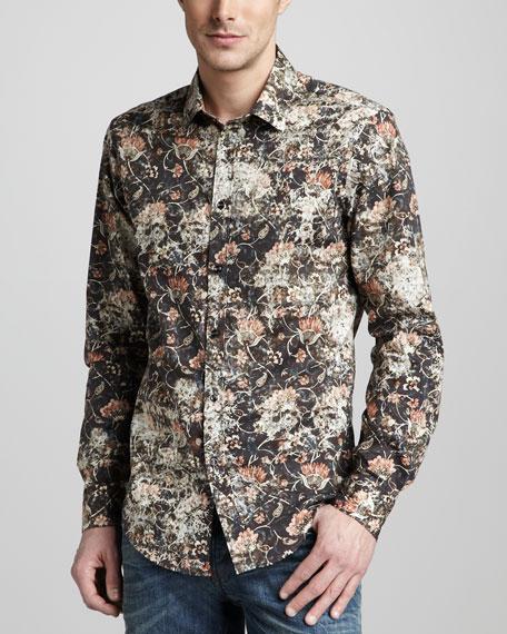 Wallpaper-Print Sport Shirt