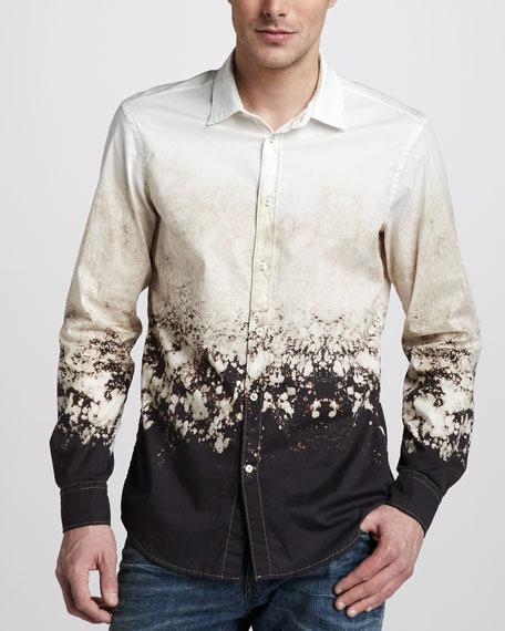 Bleach-Print Sport Shirt