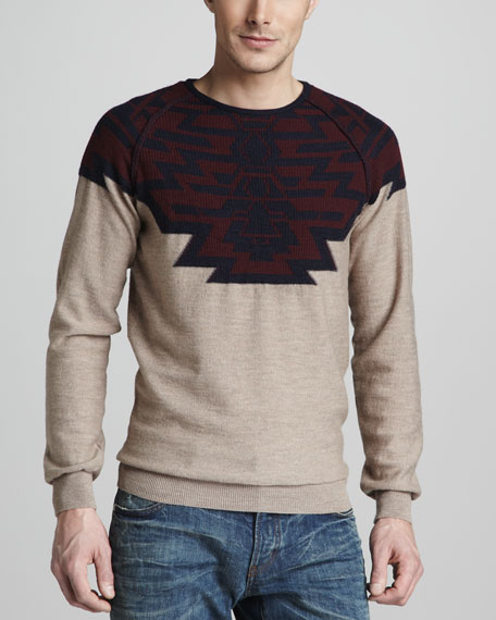 Geometric-Jacquard Sweater