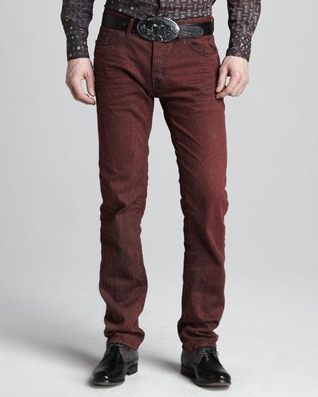 Slim Bordeaux Jeans