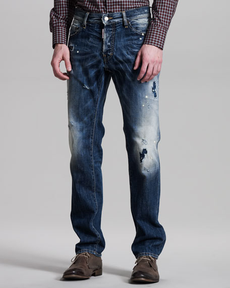 Dean Distressed Blue Jeans