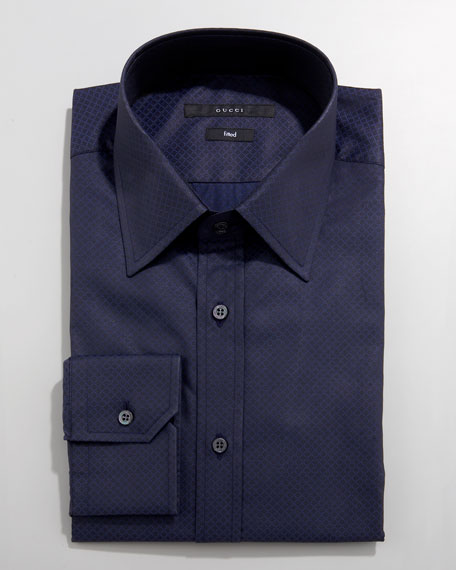 Solid Barrel-Cuff Dress Shirt