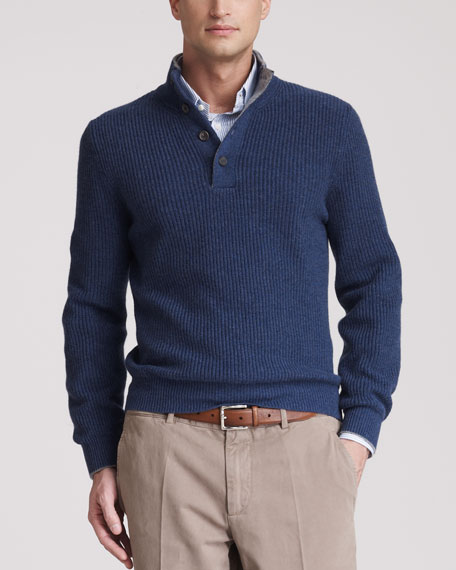 Henley Sweater, Zaffiro