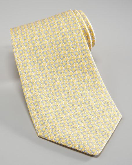 Asymmetric Gancini Tie, Yellow