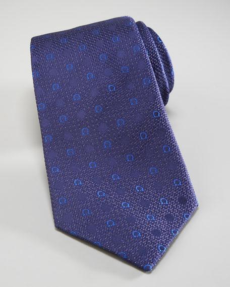 Gancini & Dots Tie, Blue
