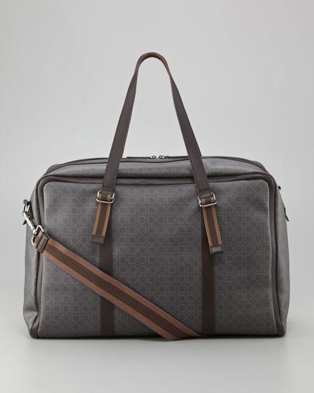 Signature Gancini Pattern Duffel Bag