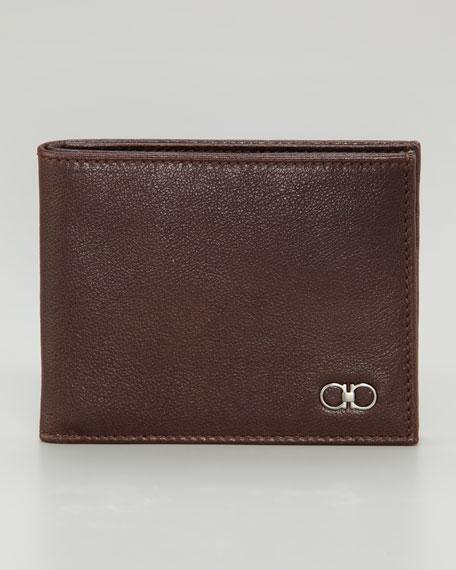 Crackle Gancini Wallet, Brown