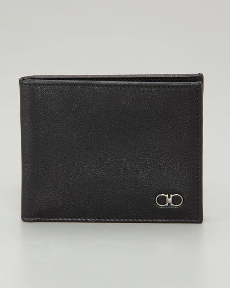 Crackle Gancini Wallet, Black