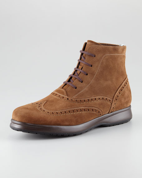 Ranger Suede Wing-Tip Boot