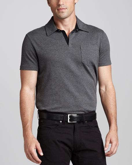 Contrast-Placket Polo