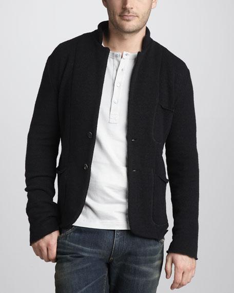 Knit Wool-Blend Jacket