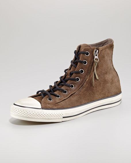All Star Double-Zip Hi-Top Sneaker, Tan