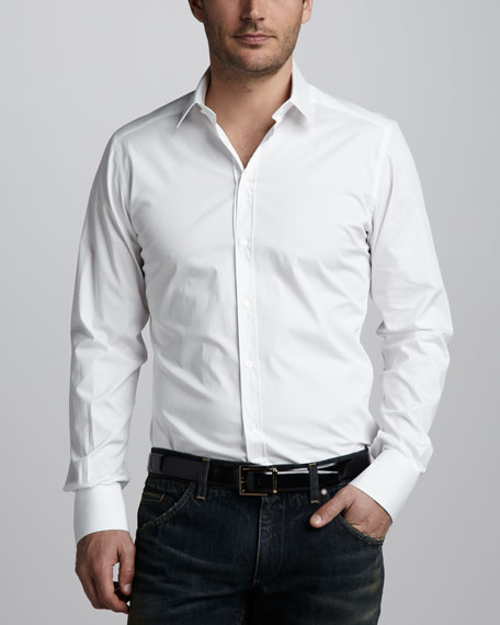 Stretch-Poplin Shirt