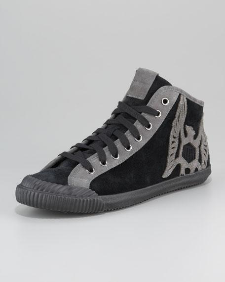High-Top Embellished Sneaker
